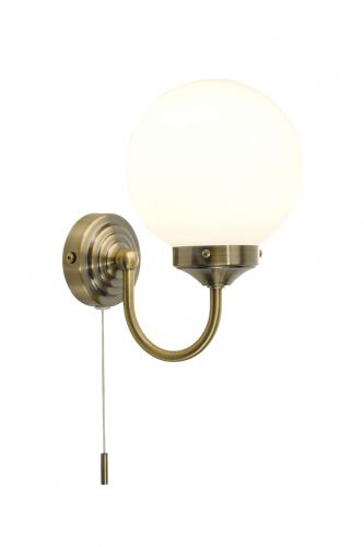 Barclay 1-light Antique Brass IP44  Wall Light BAR0775